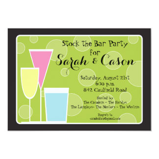 Cocktail Party Trio- Stock the Bar Invitation