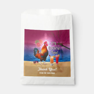 Cocktail Party Tropical Rooster Funny Summer Beach Favour Bag