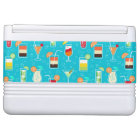 Cocktail Pattern on Teal Background