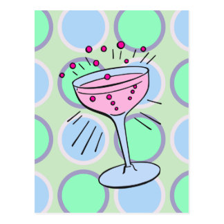 Cocktail Pop Art Postcard