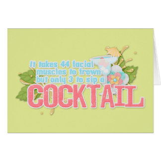Cocktail quote card