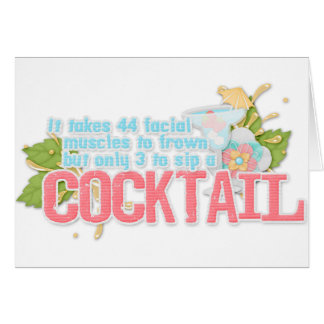 Cocktail quote greeting card