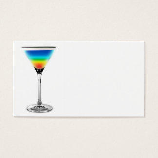 cocktail - rainbow colors business card