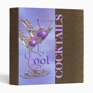 Cocktail recipe summer pub gift vinyl binders