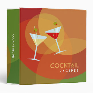 Cocktail Recipes binder