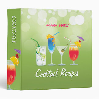 Cocktail Recipes Mixology binder