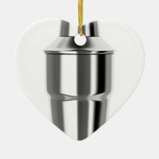 Cocktail shaker ceramic ornament