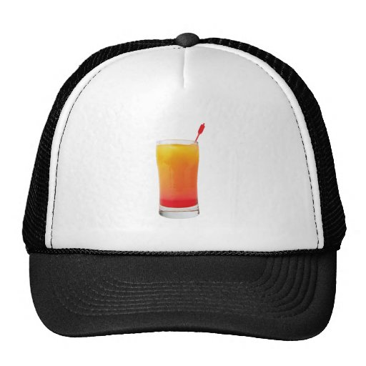 Cocktail Tequila Sunrise Mesh Hats