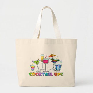 COCKTAIL UP GLASSES GROCERY or TOTE BAG