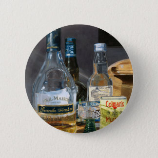 Cocktails and Mustard 2 Inch Round Button