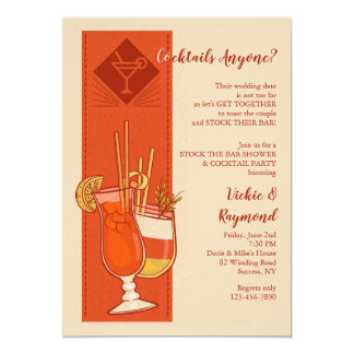 Cocktails Anyone Invitation