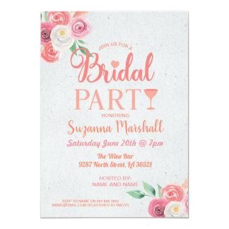 Cocktails Bridal Party Invite Pink Bachelorette