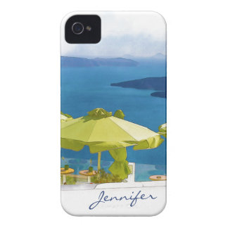 Cocktails by the Sea Watercolor Painting iPhone 4 Case-Mate Case