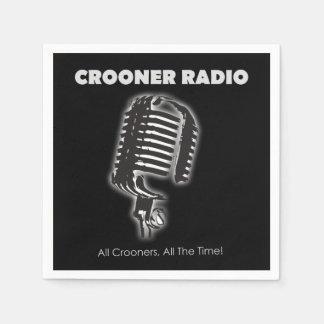 Cocktails & Crooners Napkins Disposable Napkin