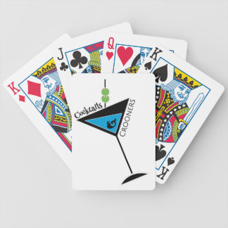Cocktails & Crooners Playing Poker Cards