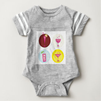 Cocktails cute ethno baby bodysuit