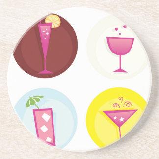 Cocktails cute ethno coaster