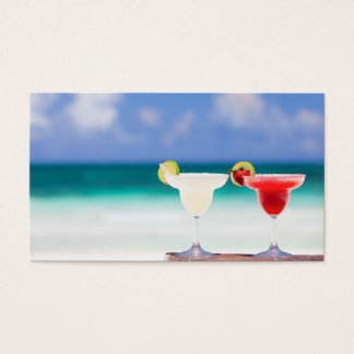 Cocktails on the beach business card