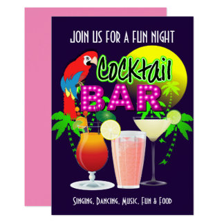Cocktails Party Celebration Party Personalized Card