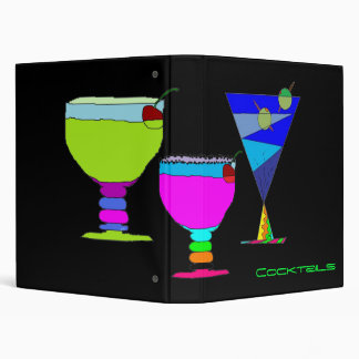 Cocktails Recipe Organizer 3 Ring Binder