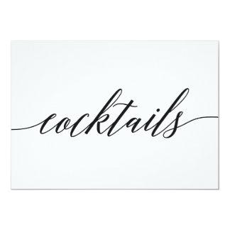 Cocktails Sign - Modern Script Card
