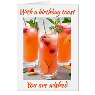 COCKTAILS TOAST FOR **40th** BIRTHDAY Card