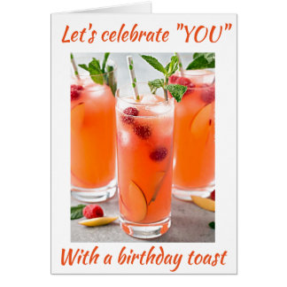 COCKTAILS TOAST FOR ****THE BEST SISTER EVER**** CARD