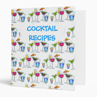 COCKTAILS UP! RECIPE BINDER