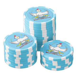 Cocky Contractor Poker Chips Set