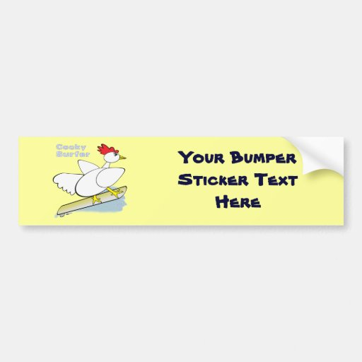 Cocky Surfer Bumper Sticker