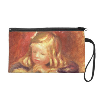Coco at the Table (Claude Renoir Reading) 1905 (oi Wristlet Clutches