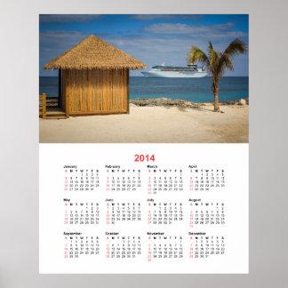 Coco Cay, Bahamas 2014 Calendar Poster