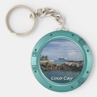 Coco Cay, Bahamas Basic Round Button Keychain