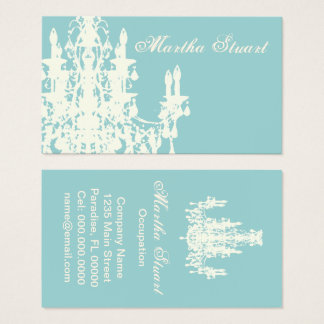 Coco Chandelier - CHANGE COLOR ~ Business Card