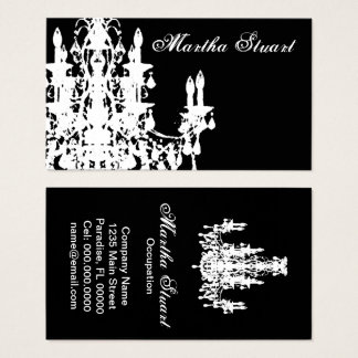 Coco Chandelier - CHANGE COLOR Business Cards