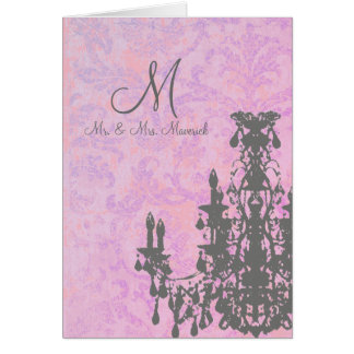 Coco Chandelier - Monogram With White Envelope / Card