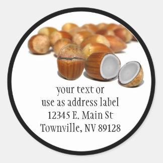 Coco Hazel Nut Classic Round Sticker