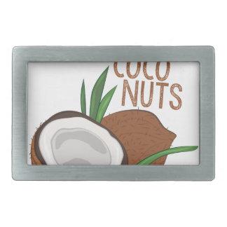 Coco Nuts Rectangular Belt Buckle