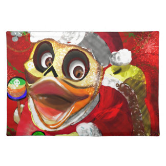 Coco Rubber Ducky Santa Placemat