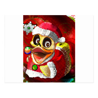 Coco Rubber Ducky Santa Postcard