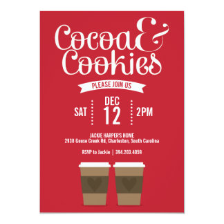 Cocoa and Cookies Party Invitation