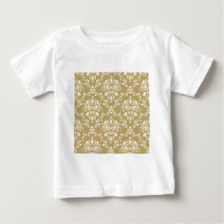 Cocoa and Cream Damask Baby T-Shirt