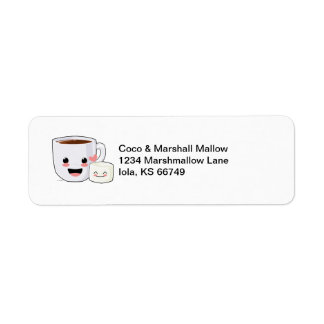 Cocoa and Marshmallow Address Labels