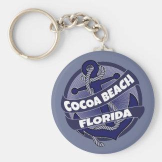 Cocoa Beach Florida anchor swirl keychain