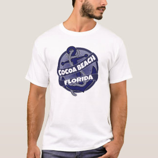 Cocoa Beach Florida anchor swirl tshirt