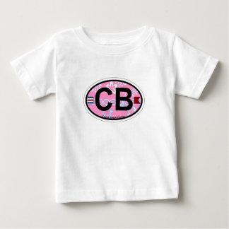 Cocoa Beach - Oval Design. Baby T-Shirt