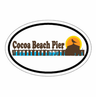 Cocoa Beach. Photo Sculpture Magnet