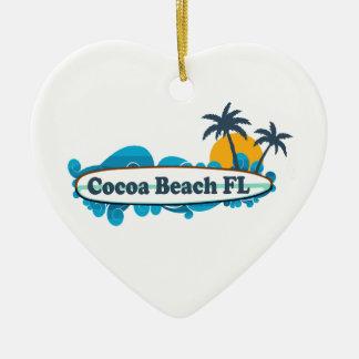 Cocoa Beach - Surf. Ceramic Ornament