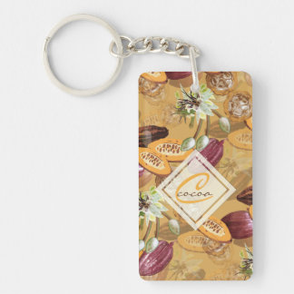 Cocoa Beans, Chocolate Flowers, Nature's Gifts Keychain