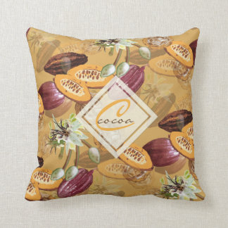 Cocoa Beans, Chocolate Flowers, Nature's Gifts Throw Pillow